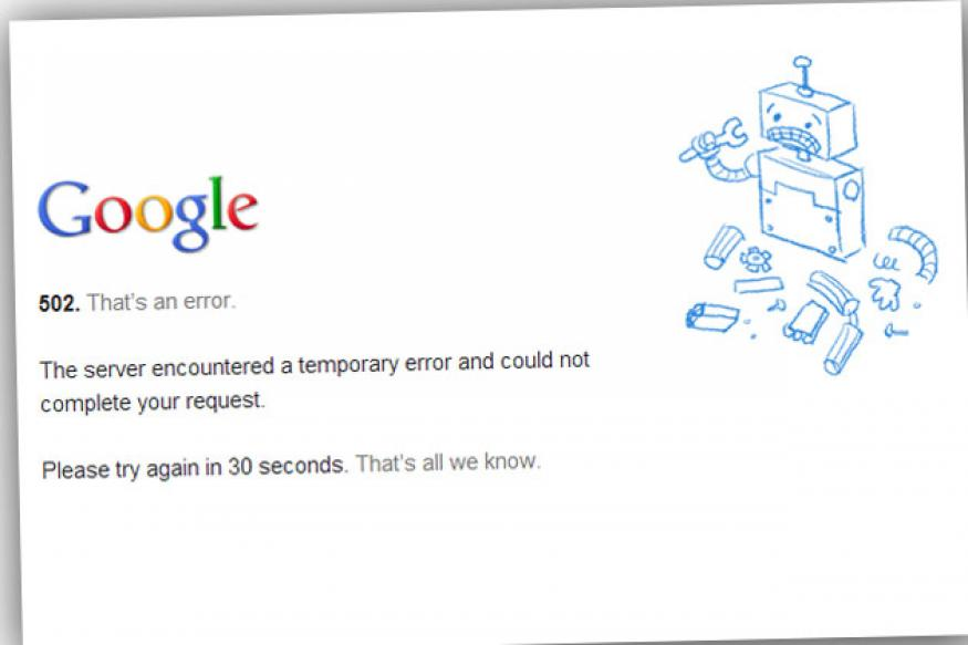 Google's Gmail faces yet another outage; shows 502 error