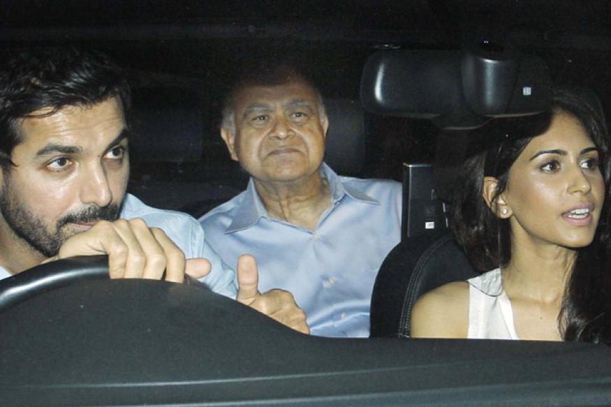Snapshot: John Abraham drives around girlfriend Priya's parents