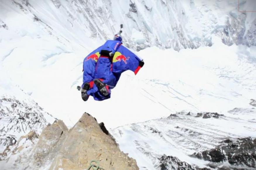 Watch: Man jumps off Mount Everest; records world's highest base jump