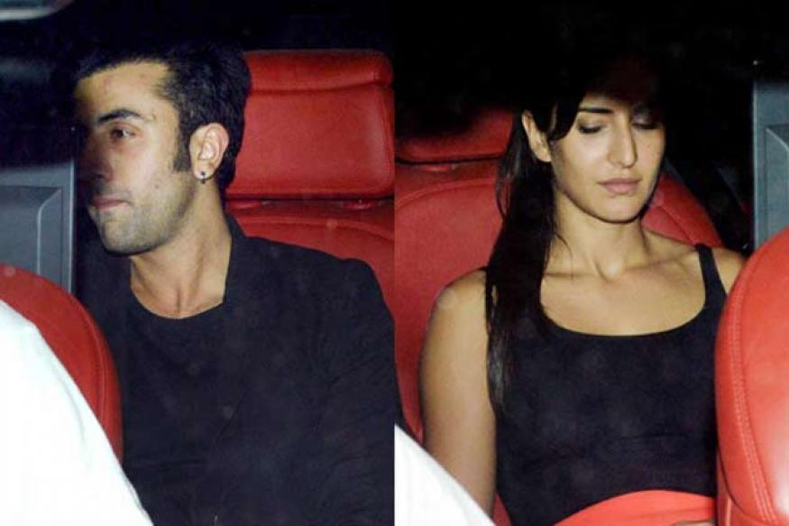 Snapshot: Katrina and Ranbir arrive together at Karan Johar's party