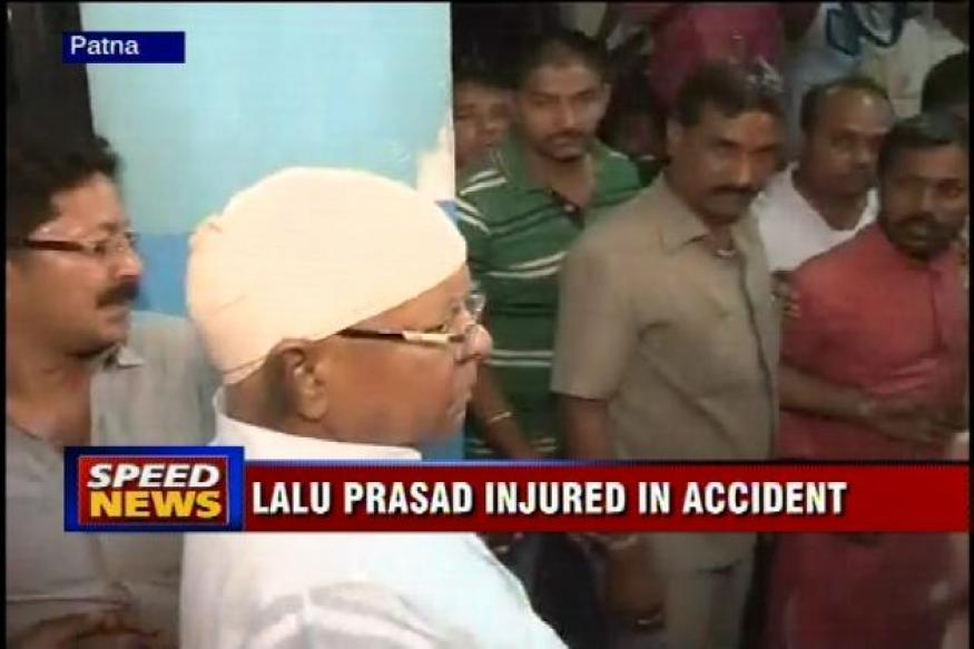 Lalu Prasad injured in accident, sustains injuries in his head, face