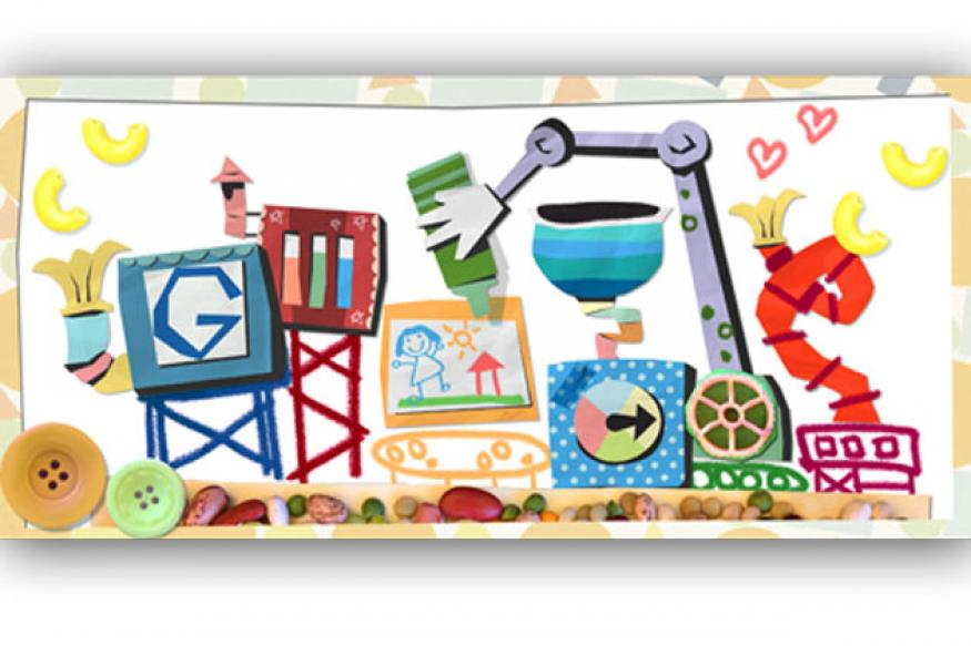 Google's Mother's Day doodle is a card building machine