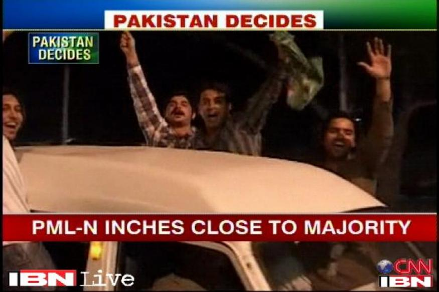 Pakistan polls: PML-N supporters celebrate victory