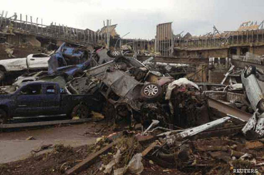 US: Oklahoma tornado toll lowered to 24 from 91