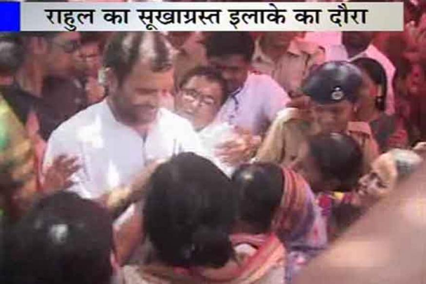 Maharashtra: Rahul visits drought-hit areas