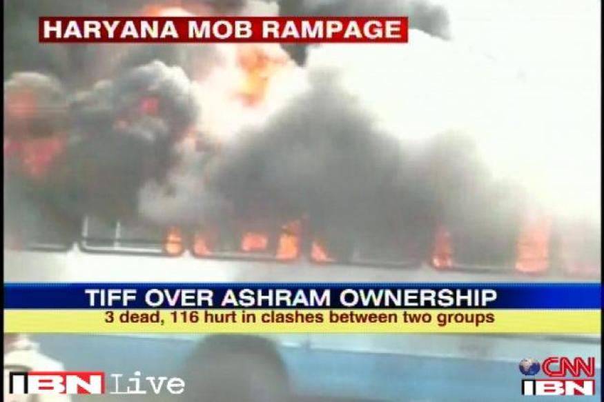Rohtak clashes: Stand-off ends as police evacuate ashram