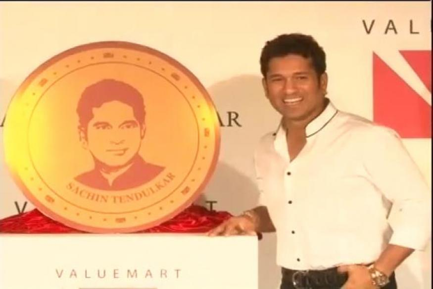 Gold coins bearing Sachin's face, signature launched