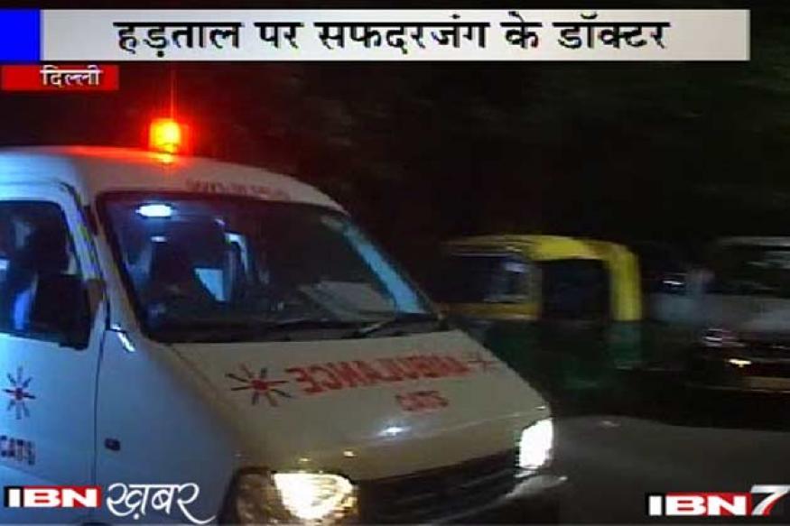 Delhi: Safdurjung doctors on strike, seek better facilities