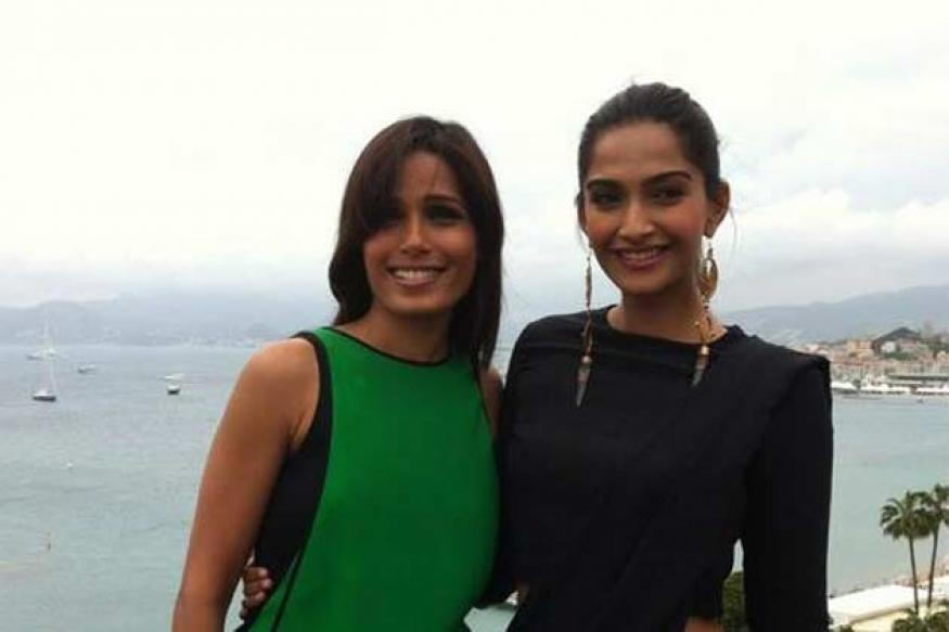 Snapshot: Sonam Kapoor and Freida Pinto bond at Cannes Film Festival