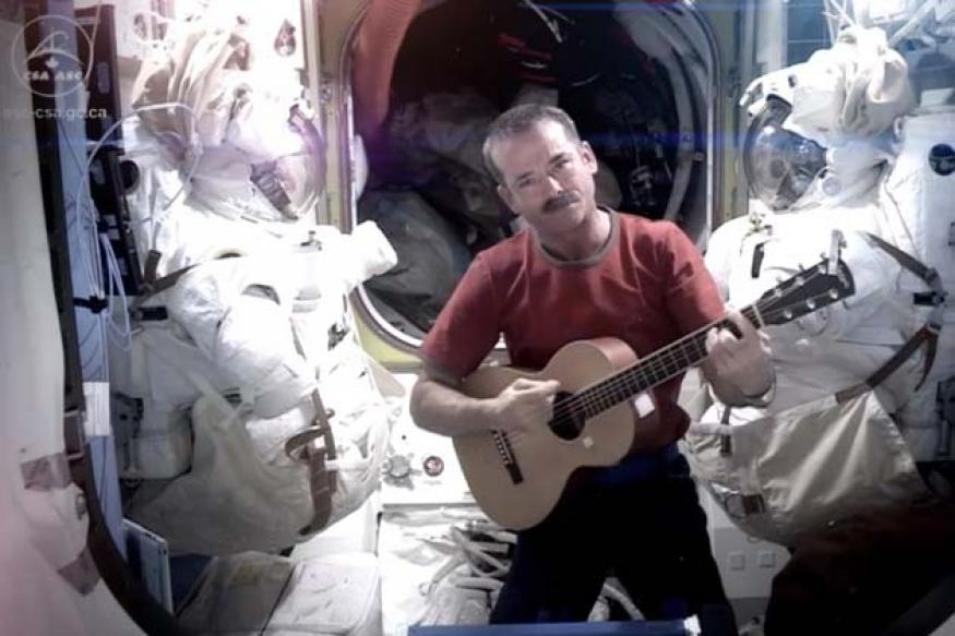 Snapshot: NASA astronaut records the world's first music video from space
