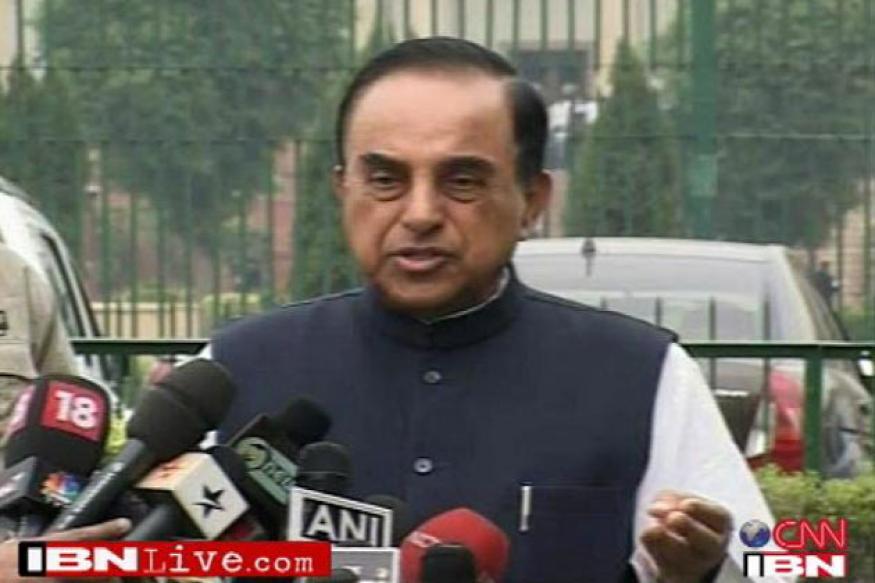 Janata Party president Subramanian Swamy visits Modi