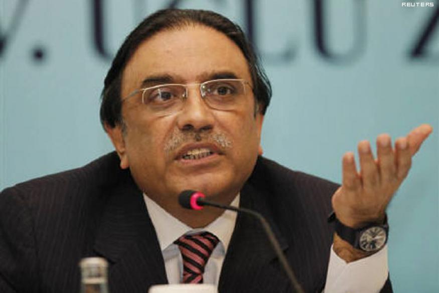 Zardari blames international forces for polls loss