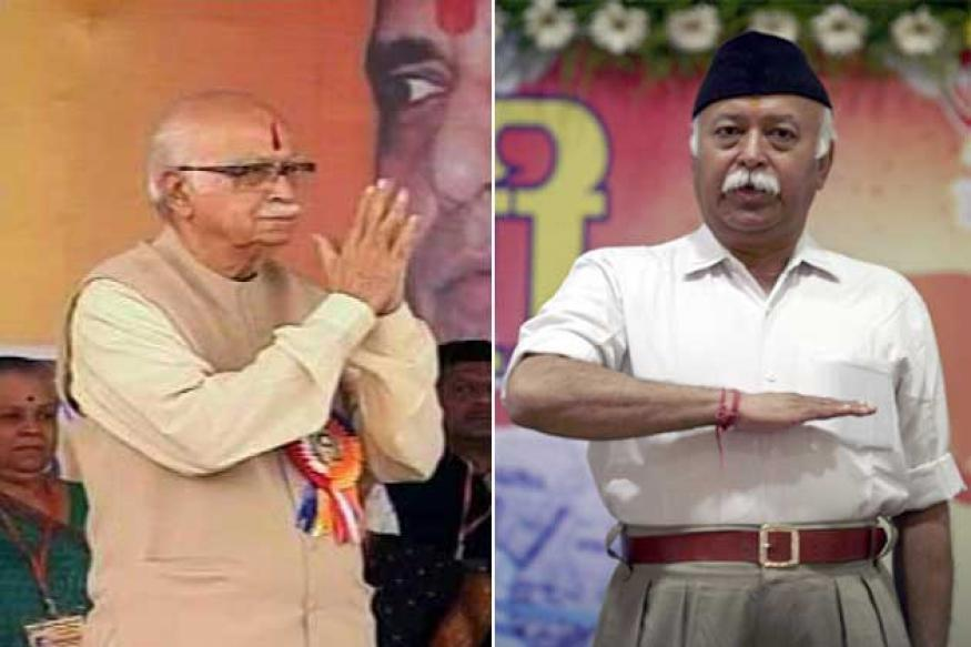 LK Advani meets RSS Chief Mohan Bhagwat