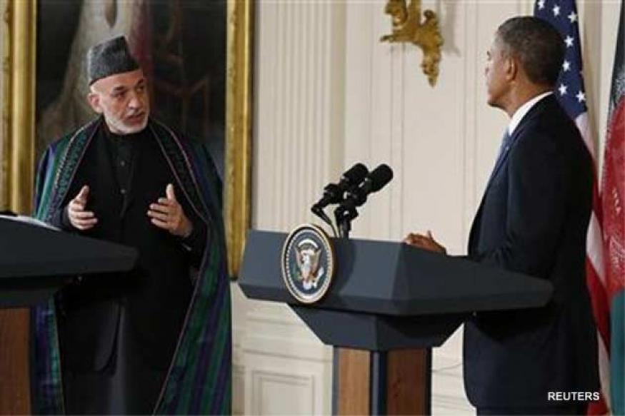 Obama discusses Taliban peace talks with Karzai