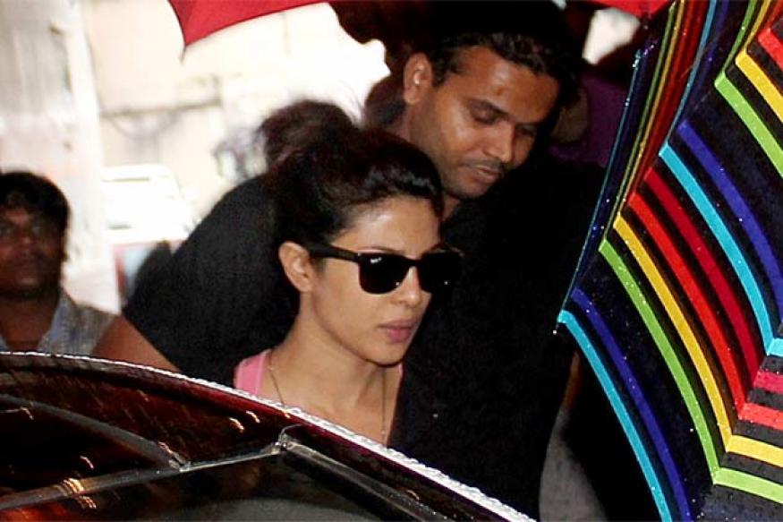 Snapshot: Priyanka Chopra spotted on the sets of 'Mary Kom'