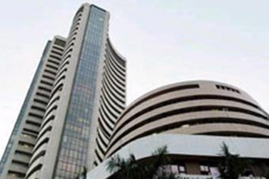 Sensex ends over 350 ahead of RBI credit policy review