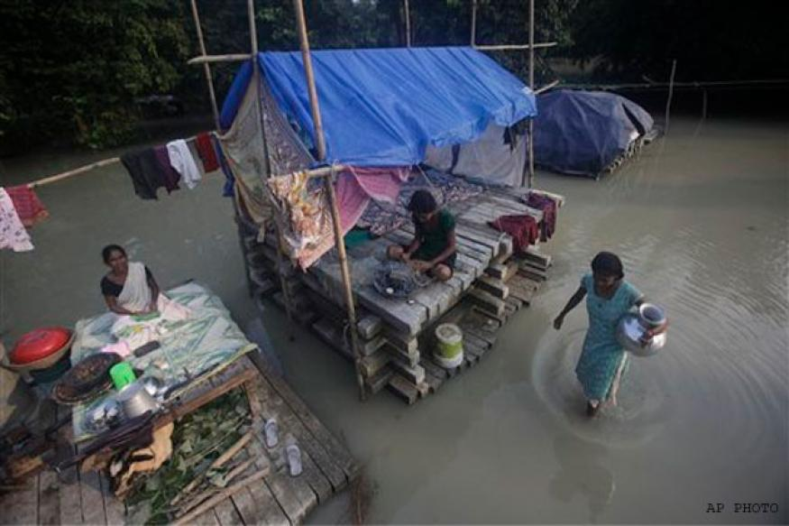 1.2 lakh people affected in Assam floods