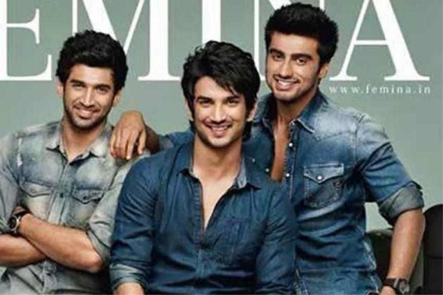Aditya, Sushant and Arjun on the cover of Femina