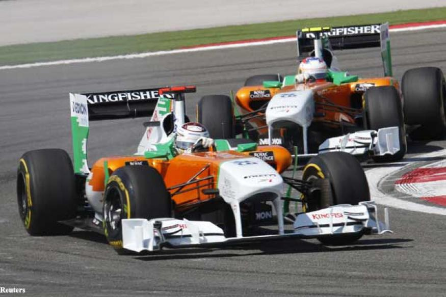 Force India's point streak ends at Germany