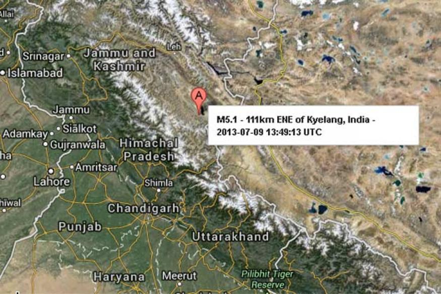Earthquake measuring 5.1 hits Himachal Pradesh