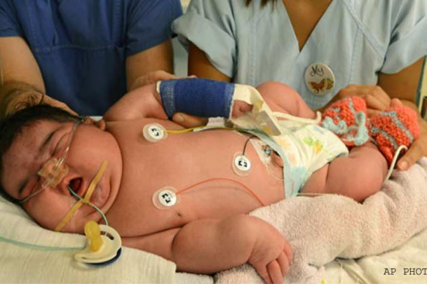 Snapshot: Jasleen, the baby born in Germany who weighs 13.47 pounds