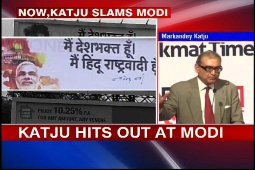 Katju hits out at Narendra Modi, says he's playing divisive politics