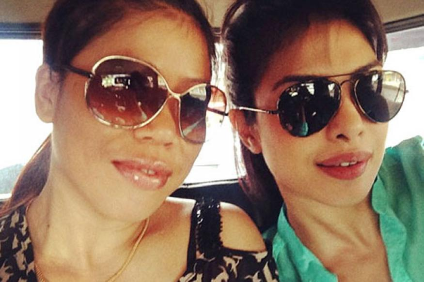 Snapshot: When Priyanka Chopra met Mary Kom in Imphal