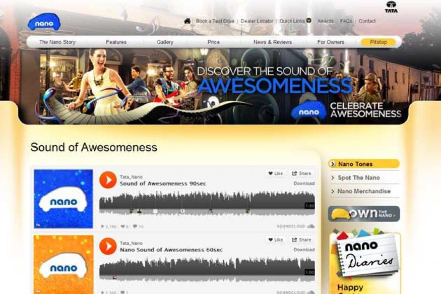 Tata Nano: Sound of awesomeness tune promotion