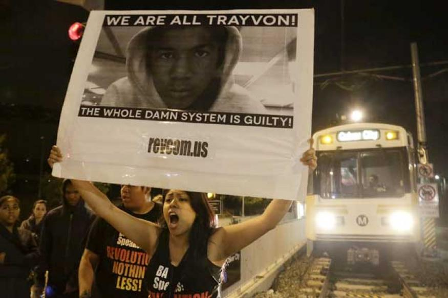 Thousands take to US streets to protest Trayvon Martin verdict