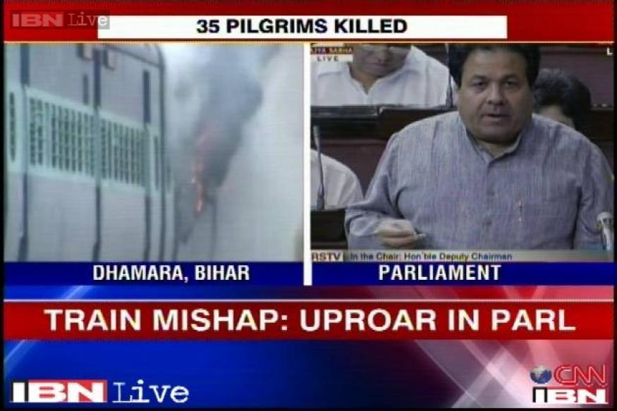Bihar train mishap: Rajya Sabha MPs demand Rail Minister's statement