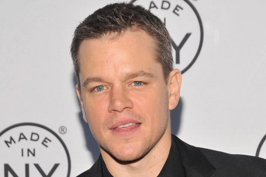Matt Damon in India, safe water and sanitation on his agenda