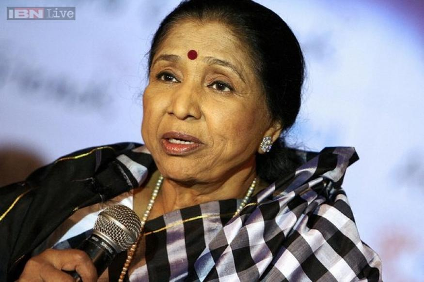 Asha Bhosle re-records songs with fan Dinesh Shahra