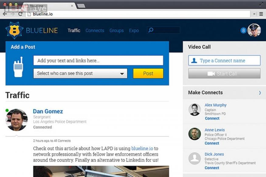 BlueLine: A new social network for the police and other law enforcers