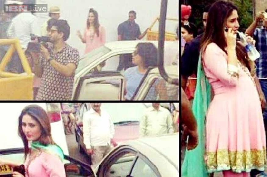 Snapshot: Kareena Kapoor caught flaunting a huge baby bump, again!