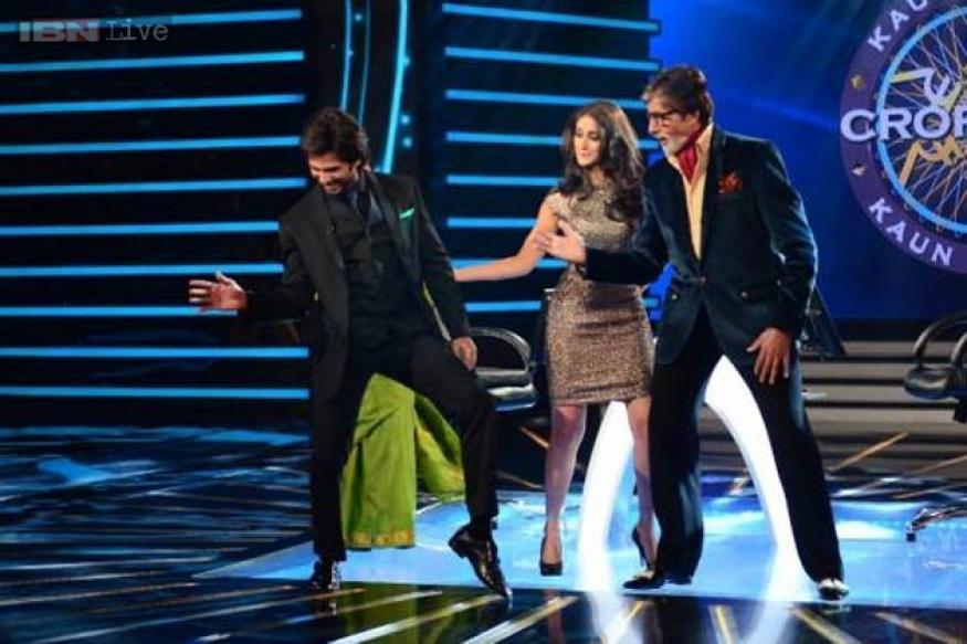 Amitabh Bachchan, Shahid Kapoor break into a jig on 'KBC 7'