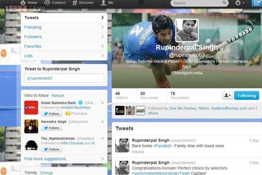 Indian hockey stars falling in love with twitter