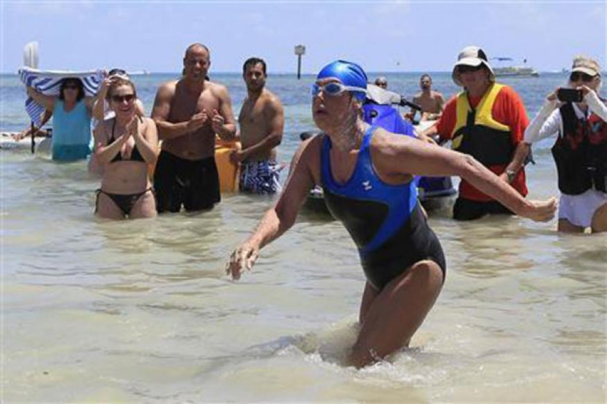US: 64-year-old Diana Nyad sets record with 177-km Cuba-to-Florida swim