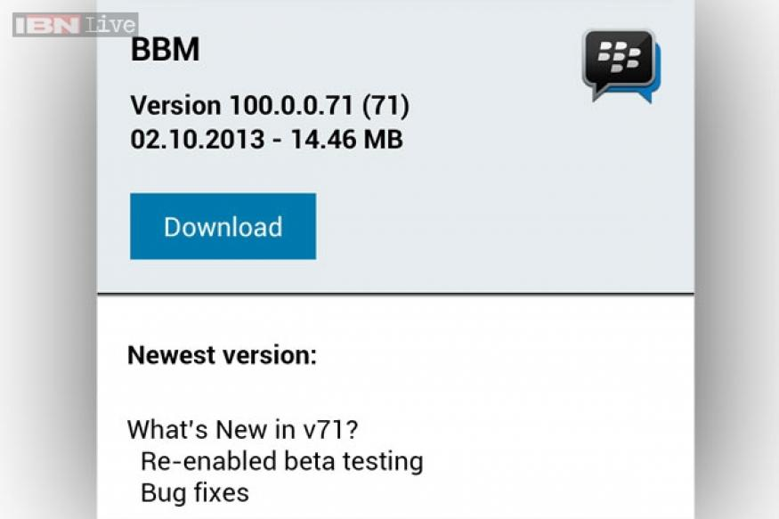 BlackBerry resumes BBM for Android closed beta testing