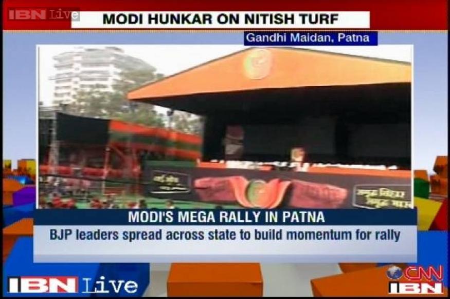 Live Tweet: Narendra Modi's Hunkar rally in Patna