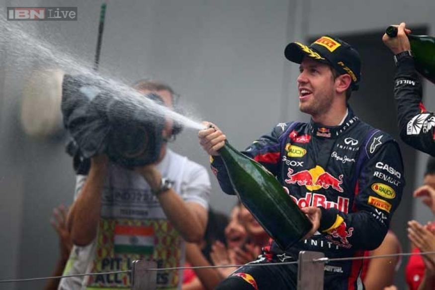 Sebastian Vettel wins Indian Grand Prix, secures 4th consecutive F1 title