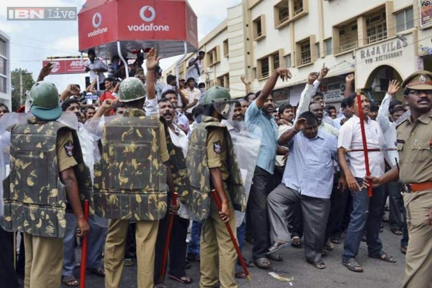 Telangana: Curfew in AP town, power crisis hits state