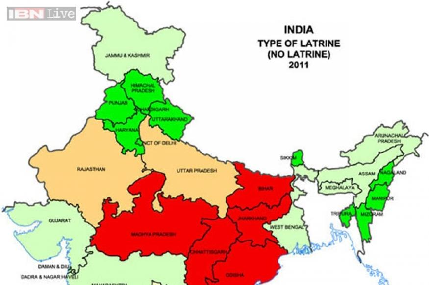 Toilet map of India
