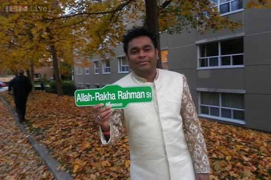 Have you visited the 'Allah-Rakha Rahman st' in Canada yet?