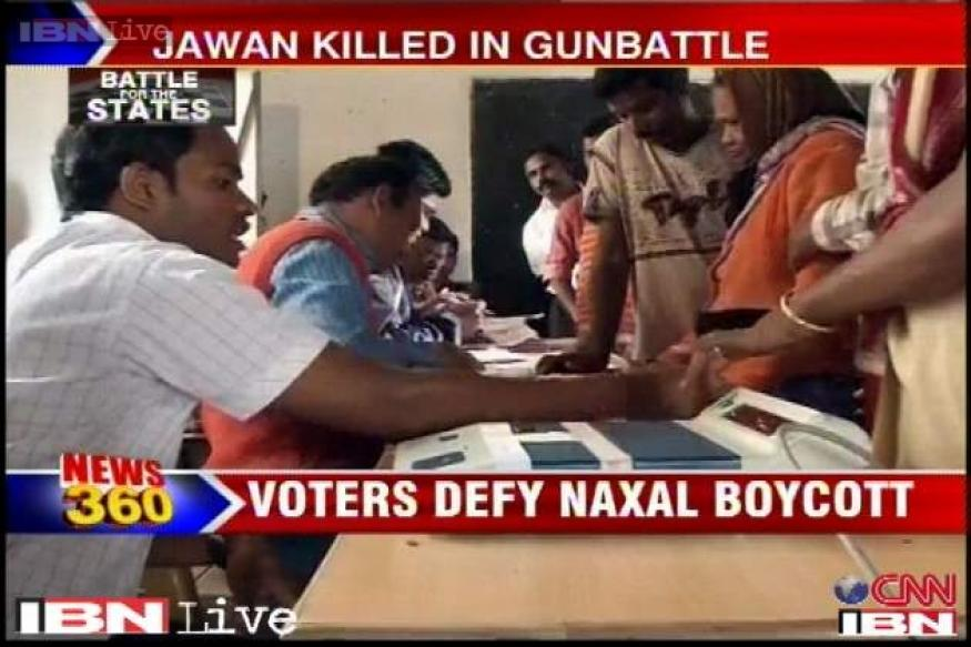 Chhattisgarh polls: Electorate defy Naxals, 67 per cent cast their votes