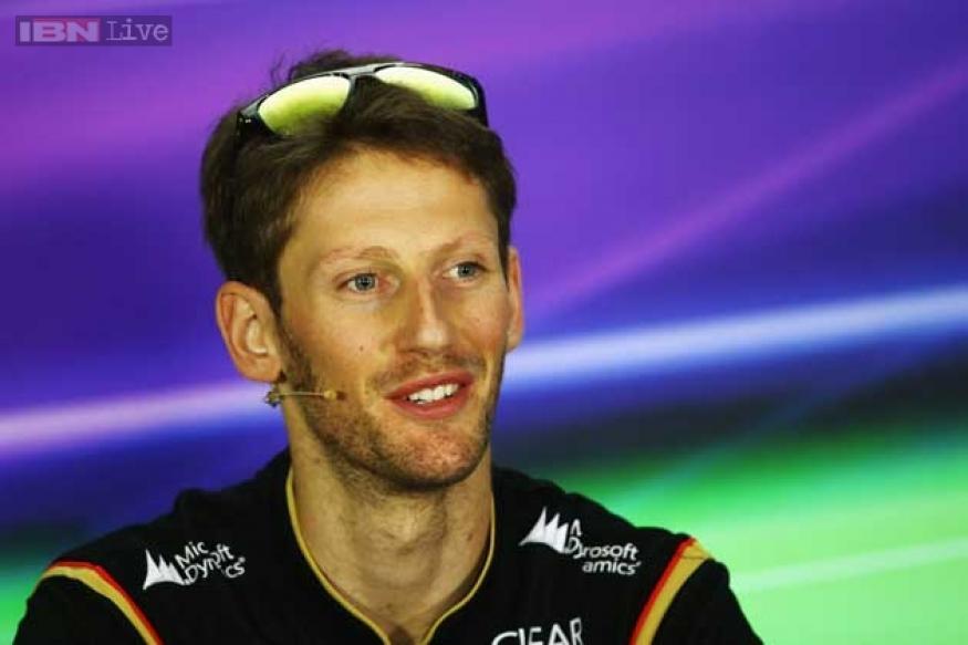 Grosjean fastest in 1st practice at Abu Dhabi Grand Prix