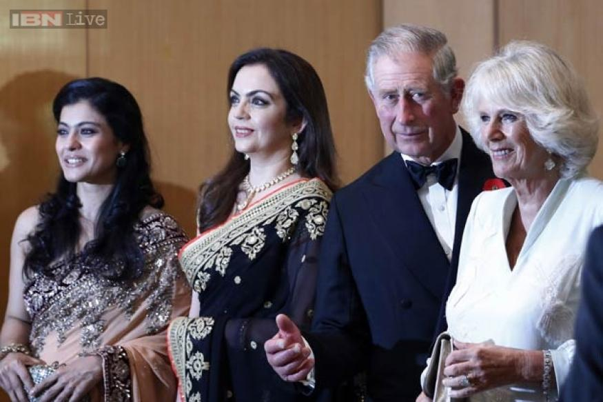 Snapshot: When Kajol and Ajay Devgn met Prince Charles