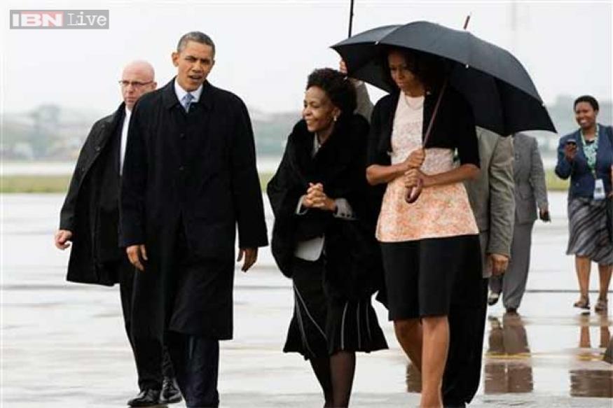 Obama in SA for Mandela memorial service