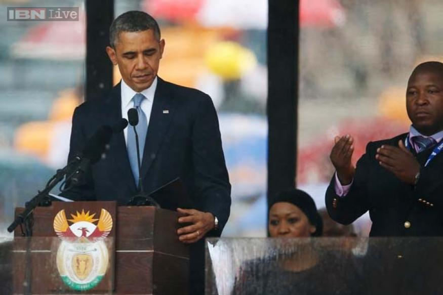 Watch: 'Fake' interpreter for deaf at Nelson Mandela's funeral made up his own sign language