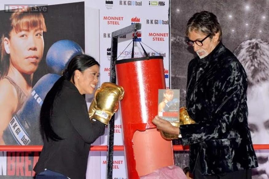 Big B launches Mary Kom's autobiography, calls her a legendary figure