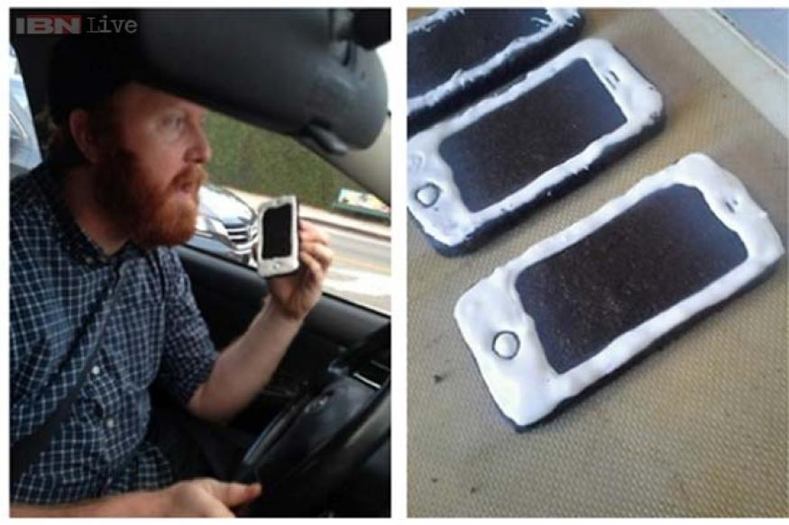 This is hilarious! Comedian bakes iPhone cookies to fool cops, live tweets as the stunt backfires
